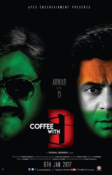 Poster Of Coffee with D 2017 Hindi 480p DVDScr Full Movie Download