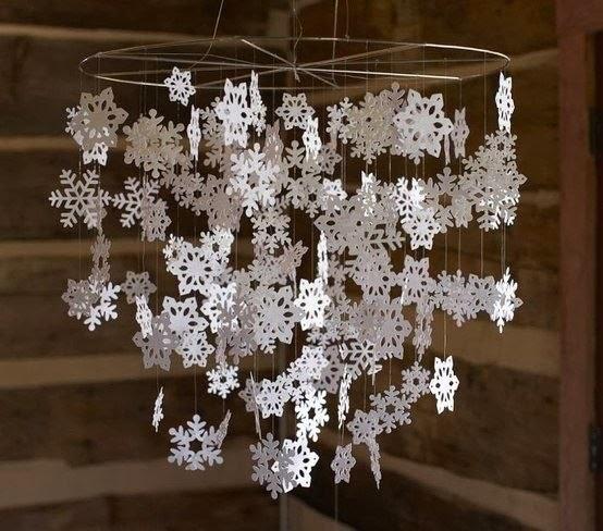 Мобиль из снежинок