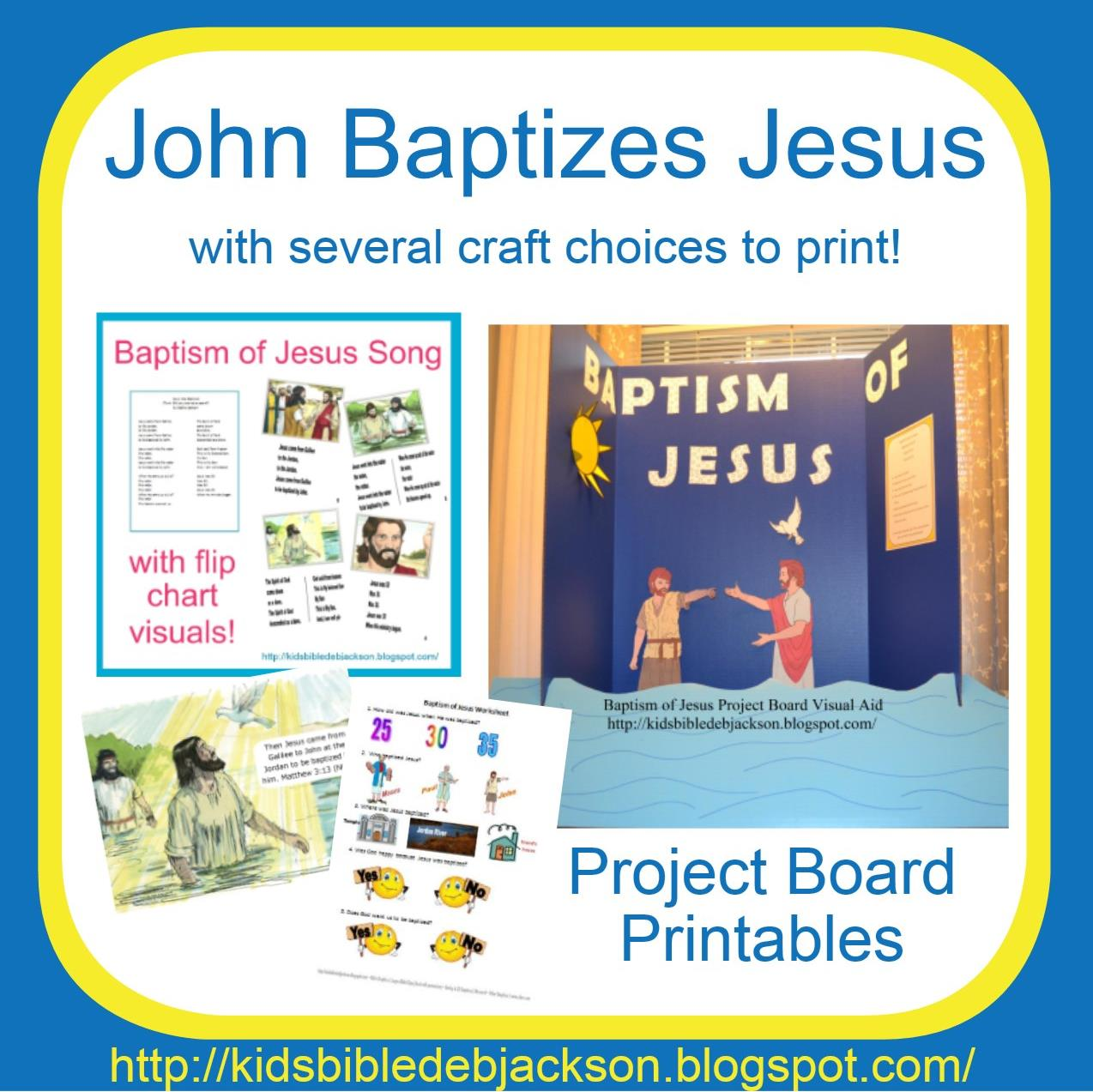 Bible Fun For Kids John Baptizes Jesus