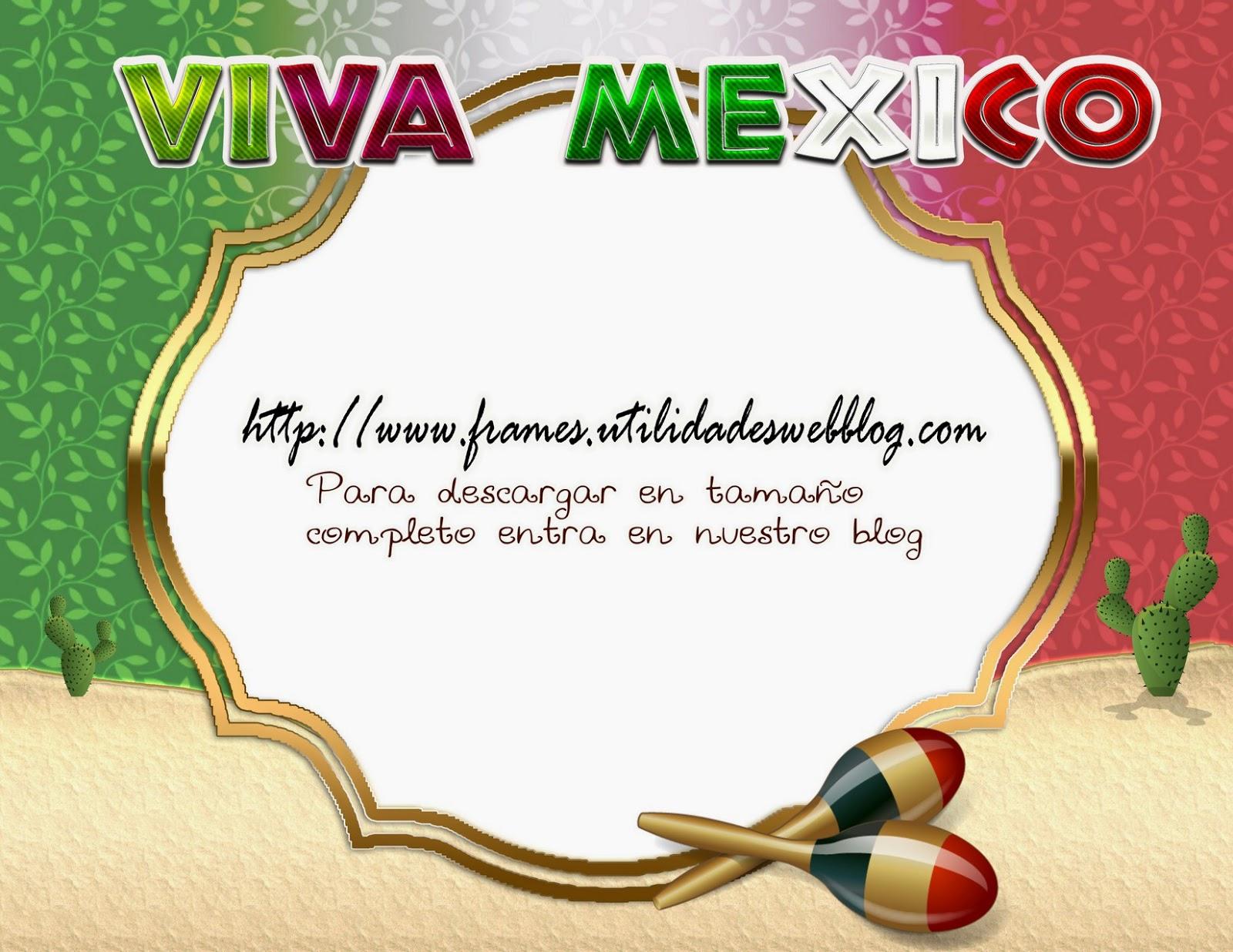 Marco para hacer fotomontajes de mexico