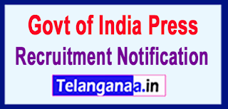 DOP Govt of India Press Recruitment Notification 2017