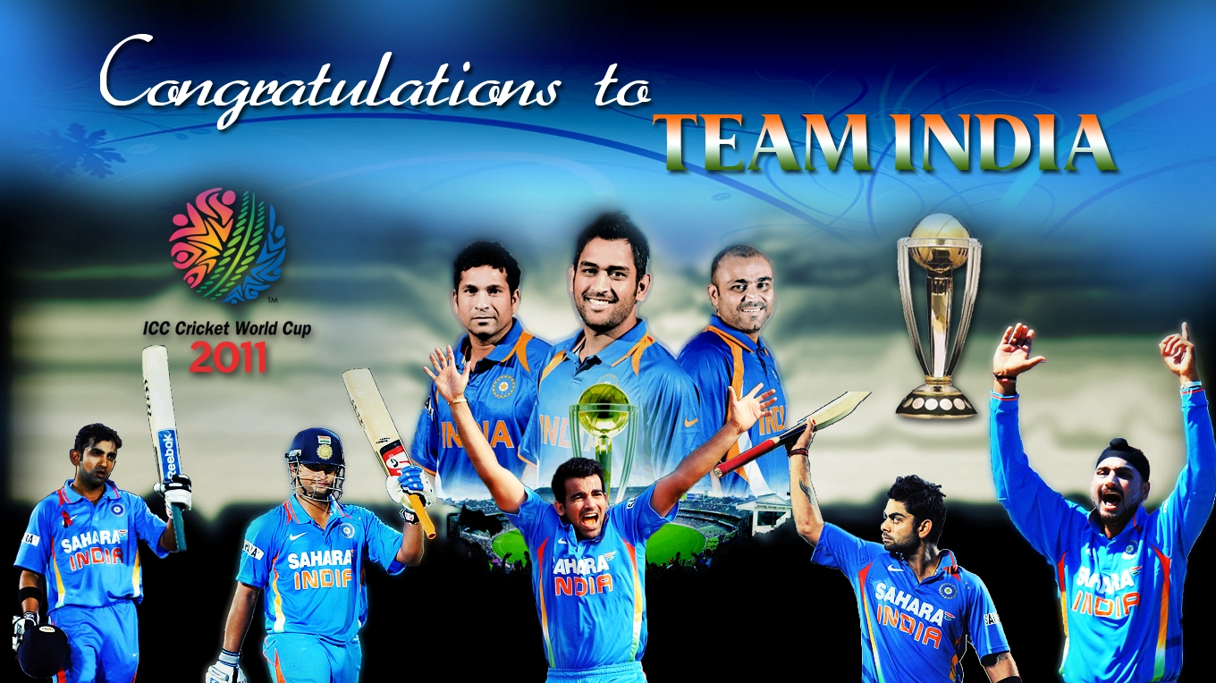 Wallpaper Team India National Cricket Team Indian: Pic Famina: 2011 World Cup HD Wallpapers