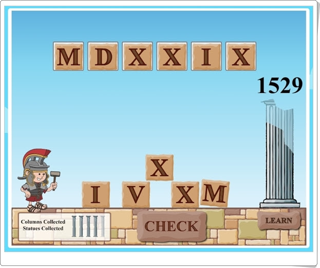 Juegos Educativos De Matemáticas Online Roman Numerals