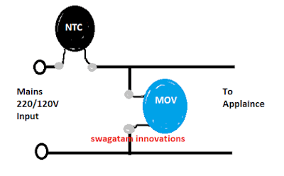 surge suppressor using MOV and NTC
