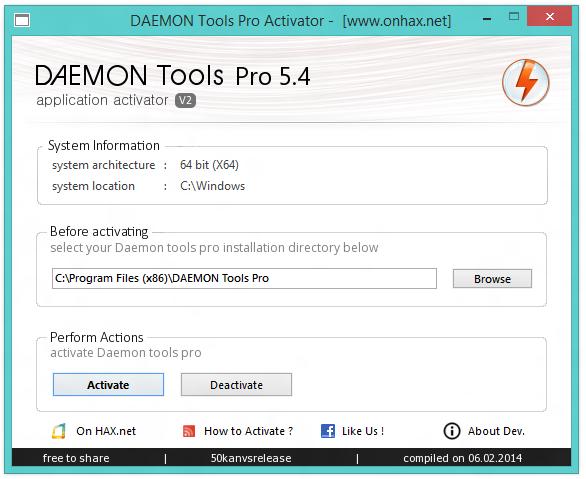 daemon tools cd key