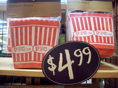Popcorn boxes from World Market
