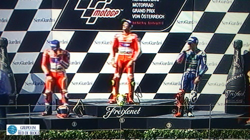 Podio Moto GP.
