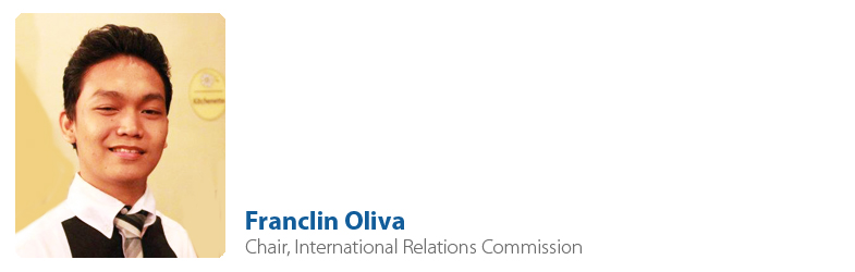 Franclin Oliva, IYF Chair, International Relations