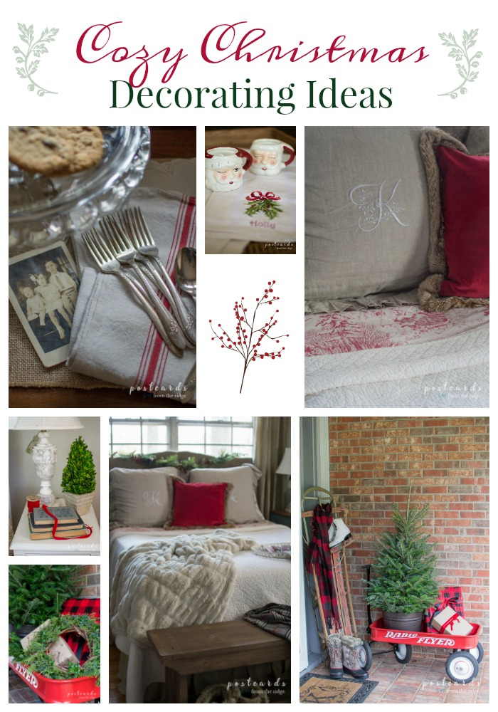 Lots of great ways to add cozy Christmas touches to your home.