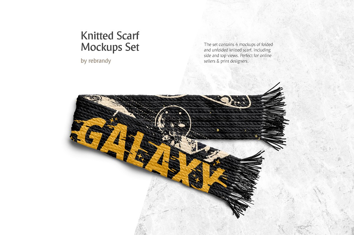 Knitted Scarf Mockup Bundle
