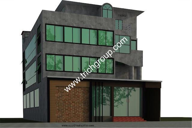 แบบบ้านสวย บ้าน 3 ชั้น TR302