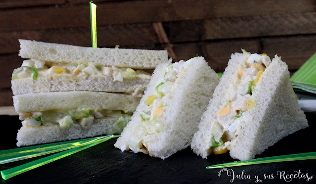 Sándwich de pollo y salsa césar. Julia y sus recetas