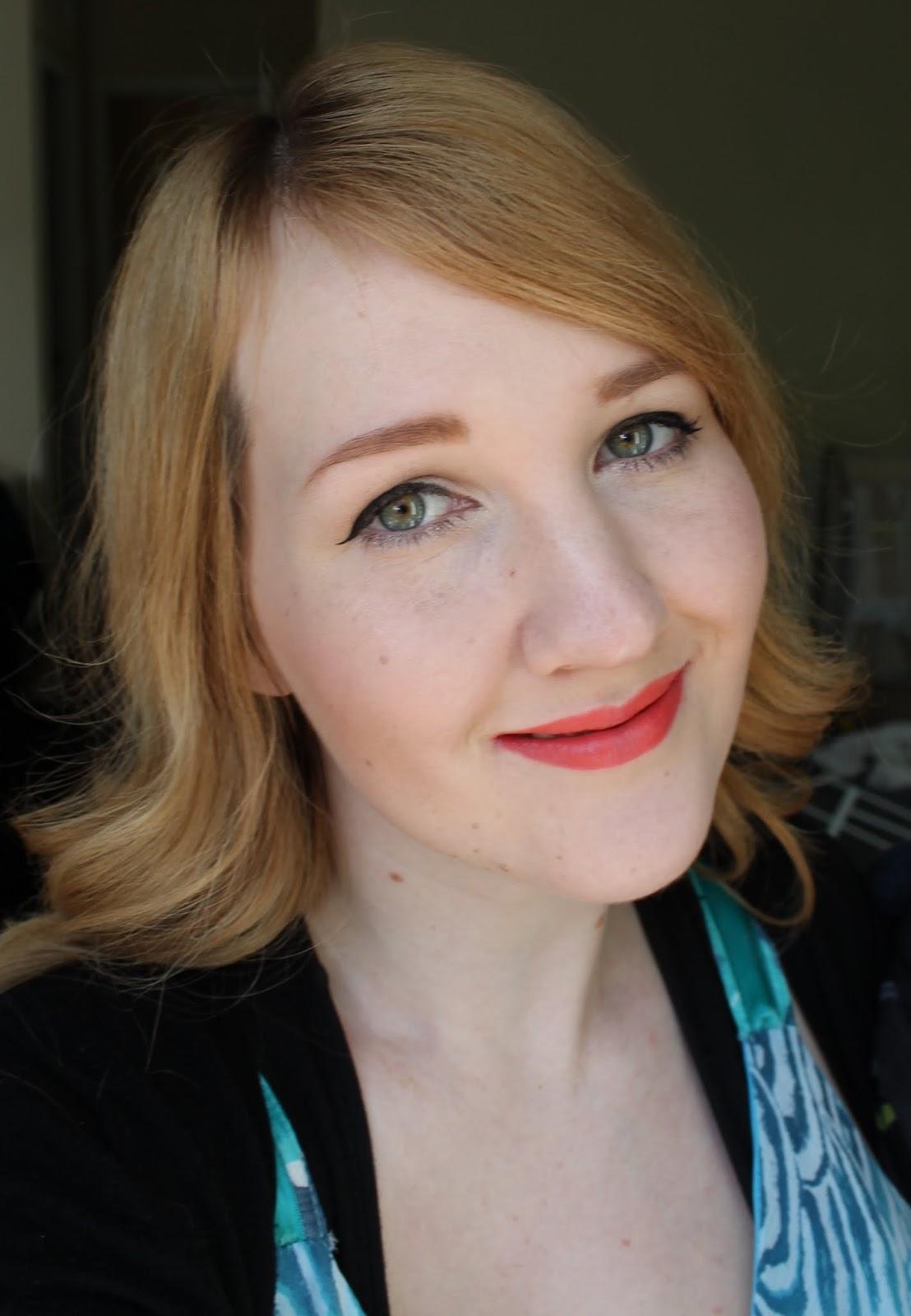 Karen Murrell Lipstick - Coral Dawn Swatches & Review