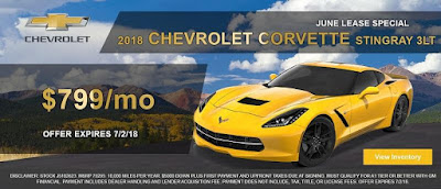 2018 Chevy Corvette June Lease Offer at Emich Chevrolet