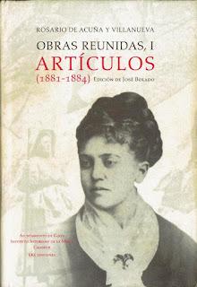 Imagen de la portada del primer volumen de las Obras reunidas
