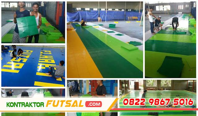 Interlock Flooring Lapangan Futsal, Lapangan Futsal Interlock