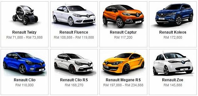 Senarai Harga Terkini Kenderaan Renault Baru Di Malaysia