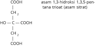 rumus struktur asam sitrat
