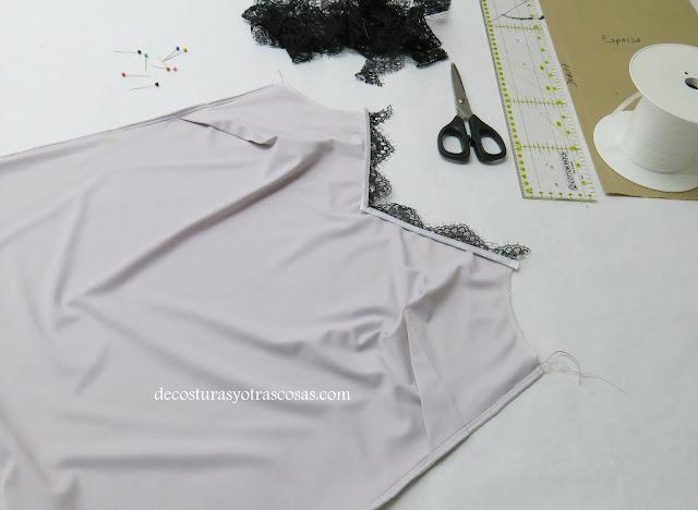 costura paso a paso lencería
