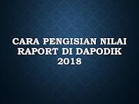 Cara Pengisian Nilai Raport di Dapodik 2018.B