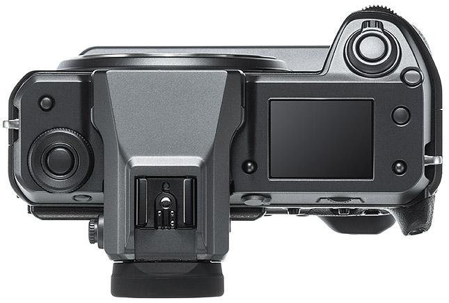 Fujifilm GFX 100, вид сверху