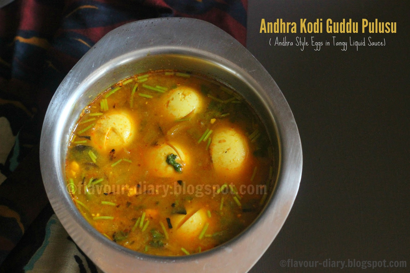 kodi guddu pulusu andhra egg curry