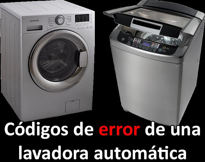 C digos de error de una lavadora autom tica ep electro for Como reparar una lavadora