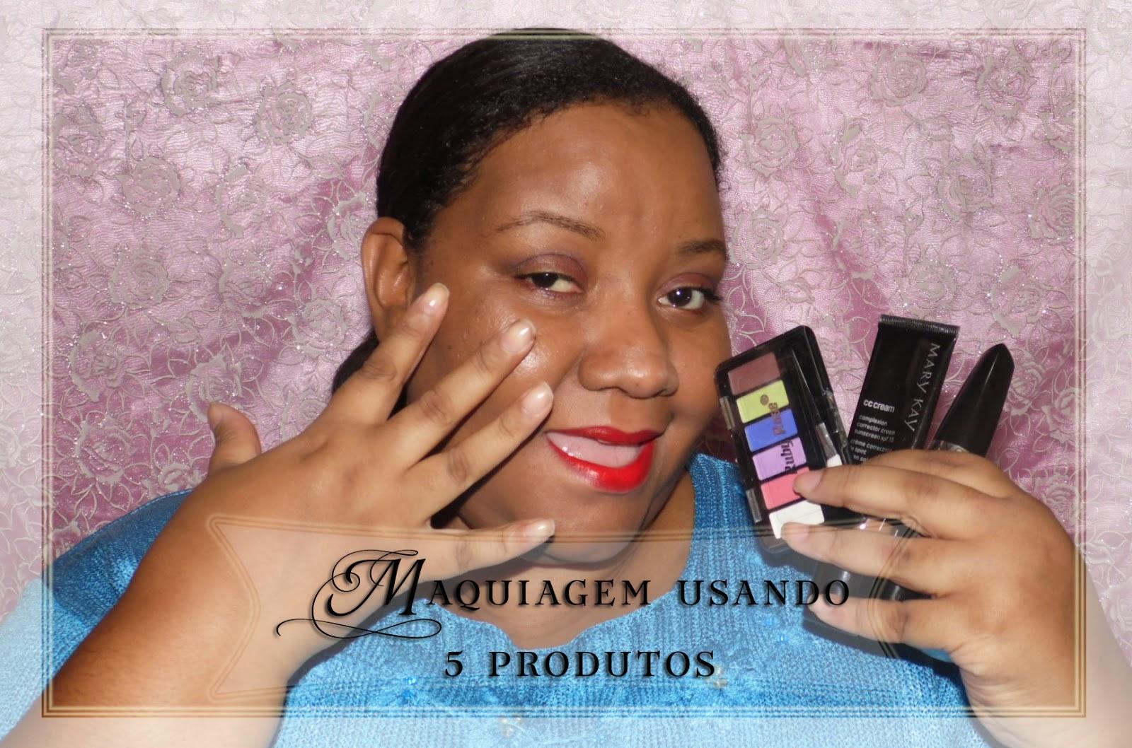 Maquiagem usando 5 produtos