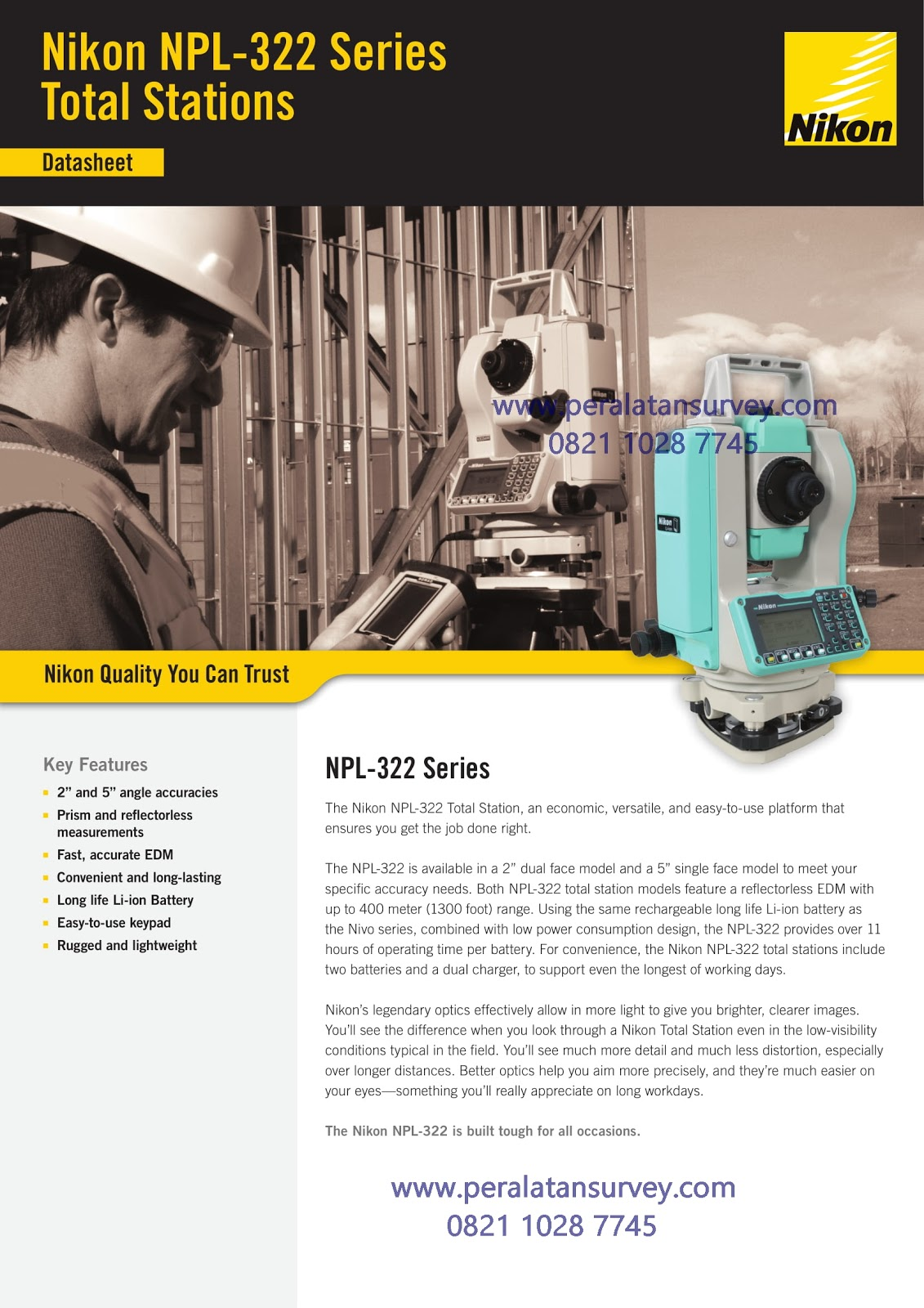 Brosur Total Station Nikon NPL-322 2Series