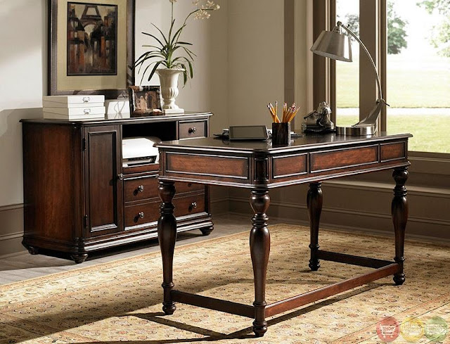 best dark wood home office desk configurations design ideas