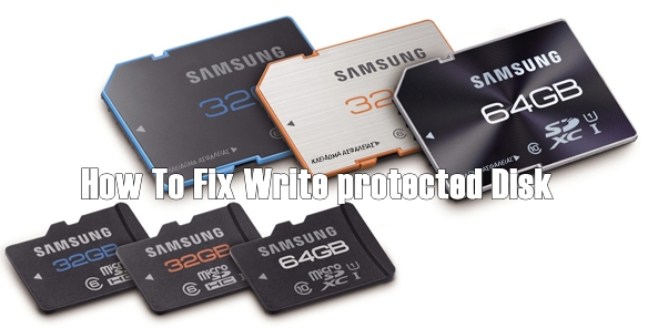 How to fix SD card write protected problem