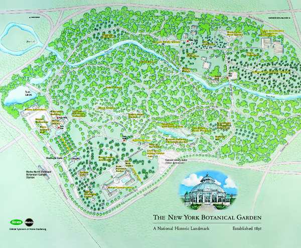 Courtney dan travel information map - New york botanical garden directions ...