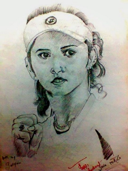 sania mirza sketch