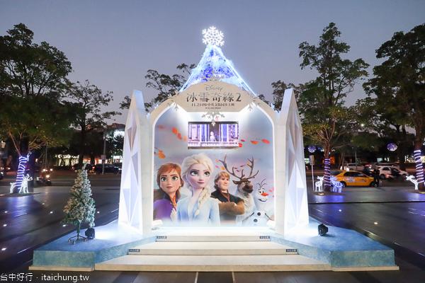 2019台中大遠百TOP CITY奇幻聖誕節|迪士尼冰雪奇緣聖誕樹