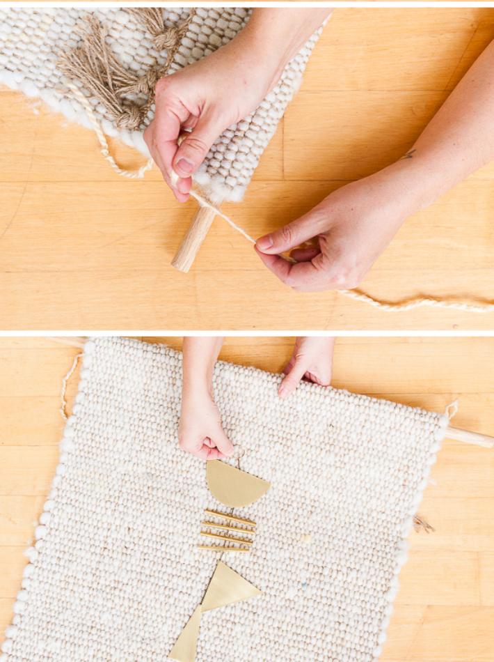 Diy tapiz con una jarapa
