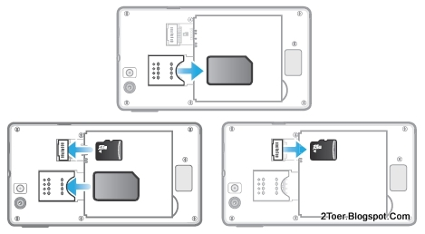 2Toer: Sony Xperia miro ST23a/ ST23i Open Cover Casing
