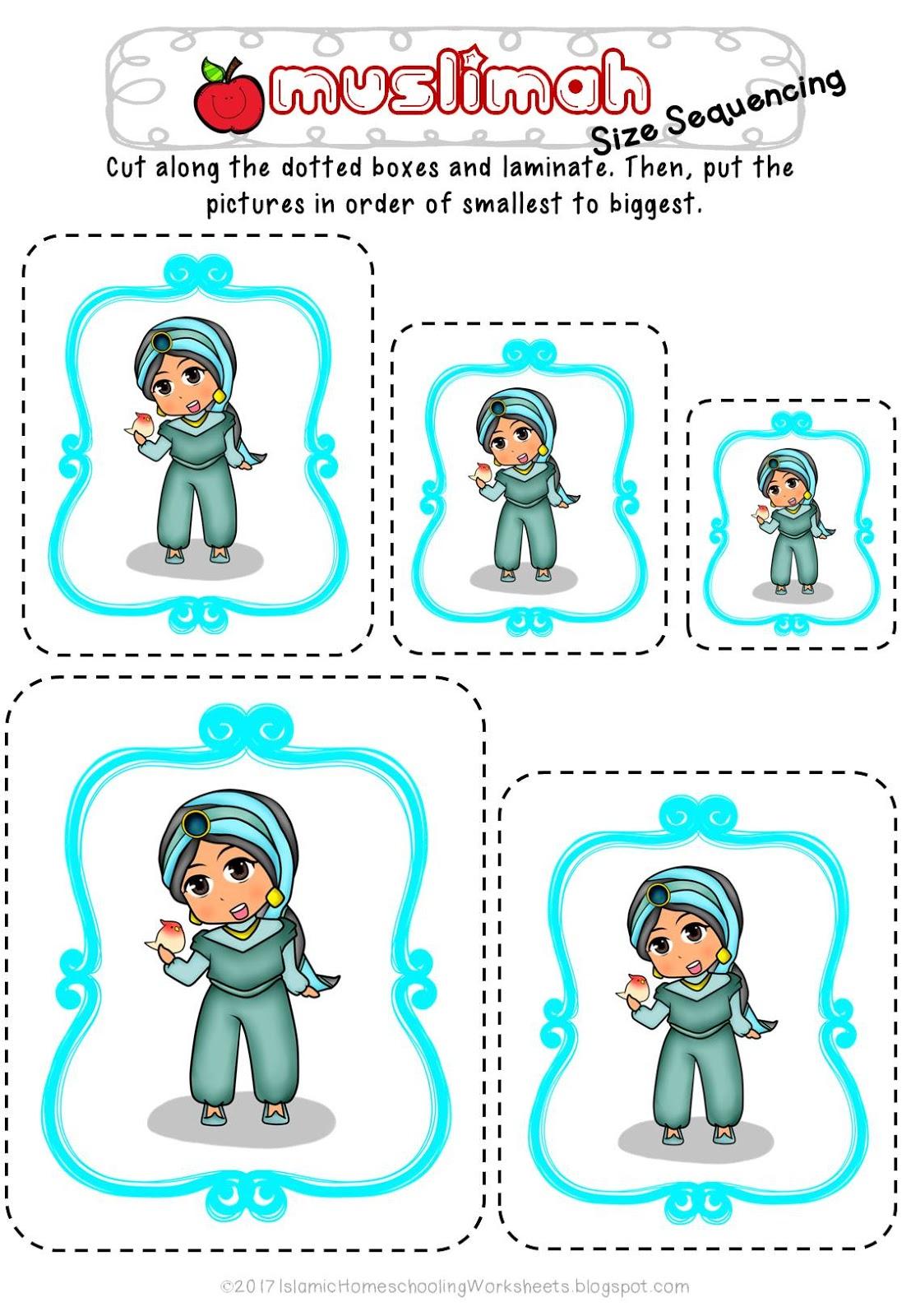 FREE Disney Princess Preschool Pack - Islamic Version ~ Islamic ...