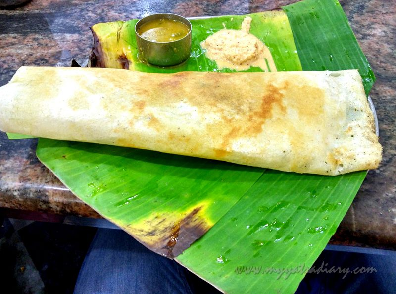 Masala Dosa in Hotel Anand Bhavan in Rameshwaram, Tamil Nadu