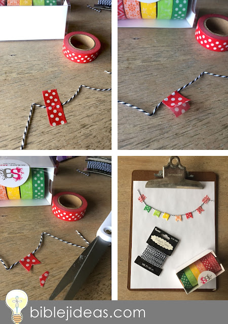 How to make a washi tape banner