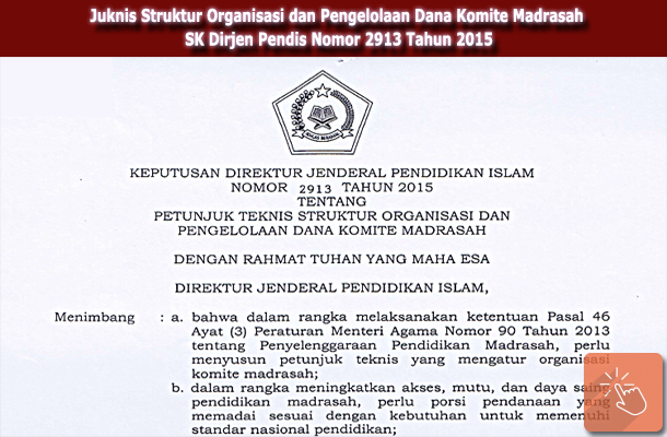 Juknis Struktur Organisasi dan Pengelolaan Dana Komite Madrasah