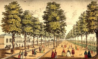 Royal Palace of St James's next the park from The story of the London Parks by J Larwood (1874)