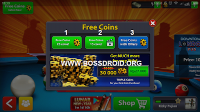 Cara Dapetin Koin 8 Ball Pool