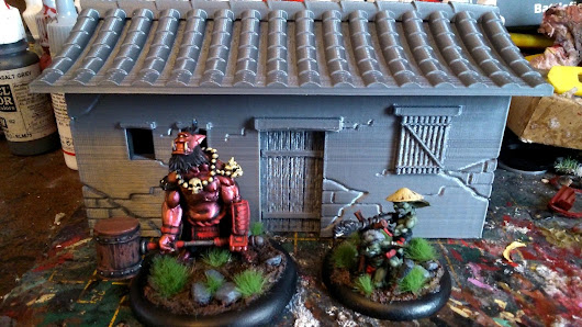 Bushido: 3D Printed House and Scatter Terrain