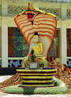Beautiful Buddha Sculpture and Snake