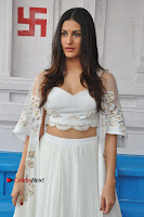 Telugu Actress Amyra Dastur Stills in White Skirt and Blouse at Anandi Indira Production LLP Production no 1 Opening  0036.JPG