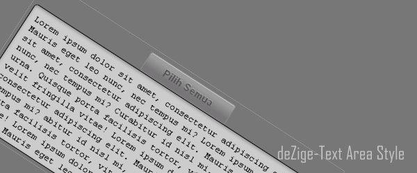 Modifikasi textarea dengan style CSS
