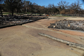 Another photo of the burned Western Town.