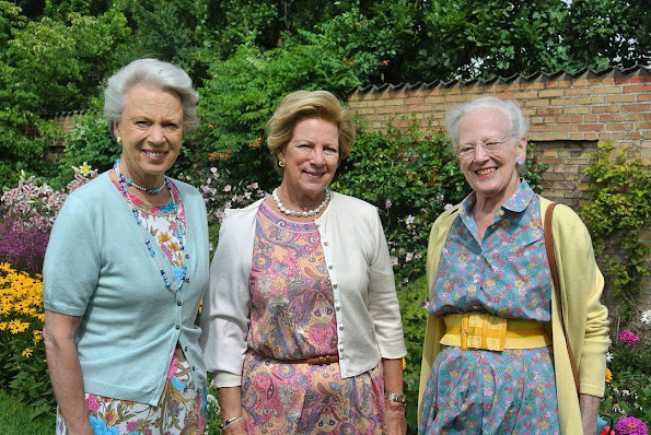 Queen Margrethe of Denmark, Princess Benedikte of Denmark and former Queen Anne-Marie of Greece had a couple of days together at Grasten Palace