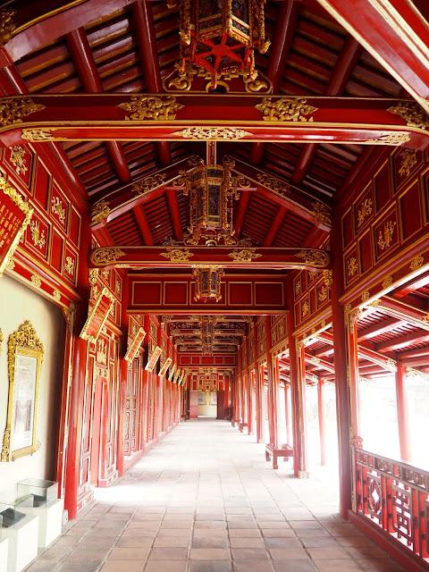 Details inside the Imperial Citadel, Hue, Vietnam