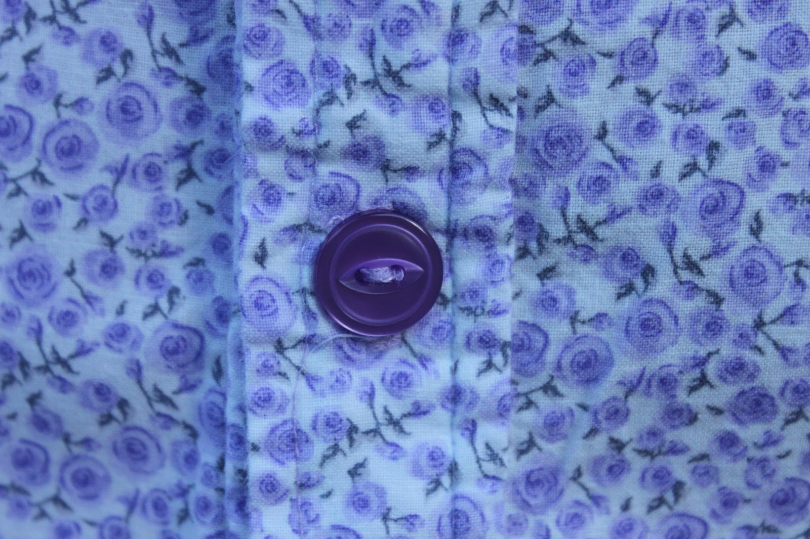 Purple buttons I sewed on